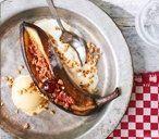 Barbecued banana split   – summer/spring recipes A LOT!! – #Banana #Barbecued #L…