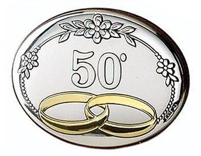 Obrazek srebrny ślub - Obrączki 50 rocznica 768/1L