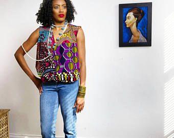 Ankara Africain Haut Vetements Mode Africaine Impression Pagne Chemisier Blouse
