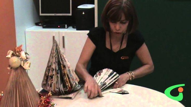 Aprenda a fazer uma Árvore de Natal de revista