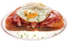 Strammer Max Recipe - Saveur.com - German Sandwich of Ham, Fried Eggs....