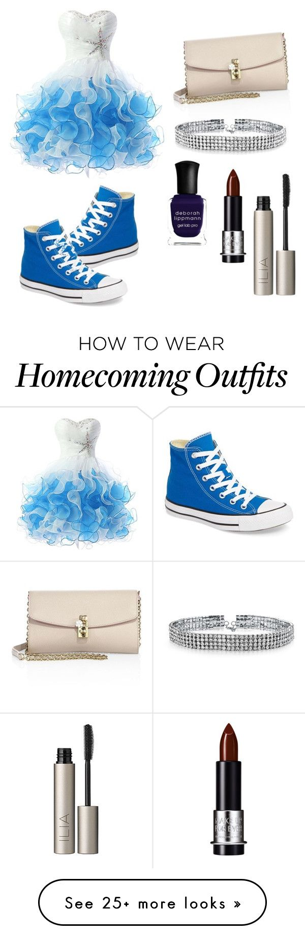 """Pretty Blue Love"" by angel-wwe-forever on Polyvore featuring Converse, Dolce&Gabbana, Bling Jewelry, Deborah Lippmann and Ilia"