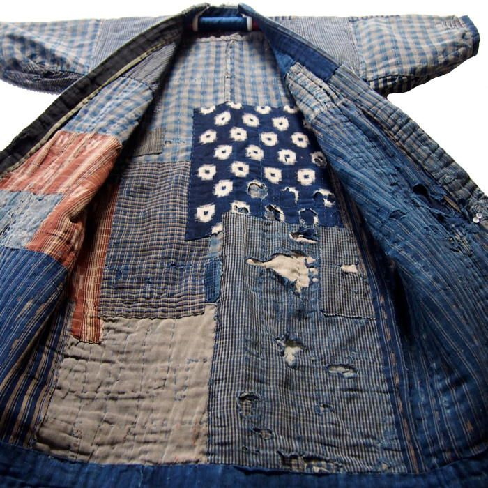 Vintage Japanese Noragi Boro Indigo Jacket