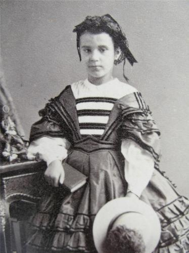 Civil War Era French Girl Child Fashion Fancy Dress Hat Old CDV Photo C1860s | eBay