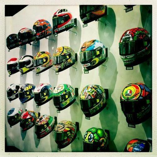 Valentino Rossi's helmets.