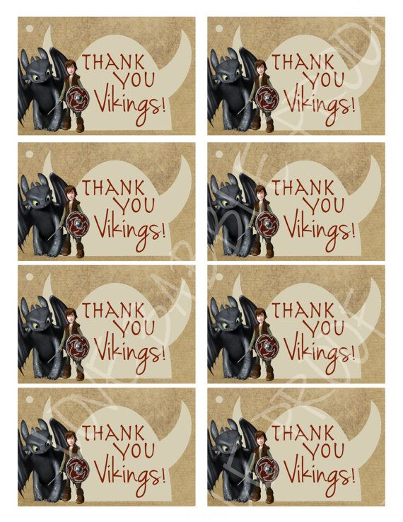 Viking How to train your dragon favor tags favors by lovebabble, $5.00