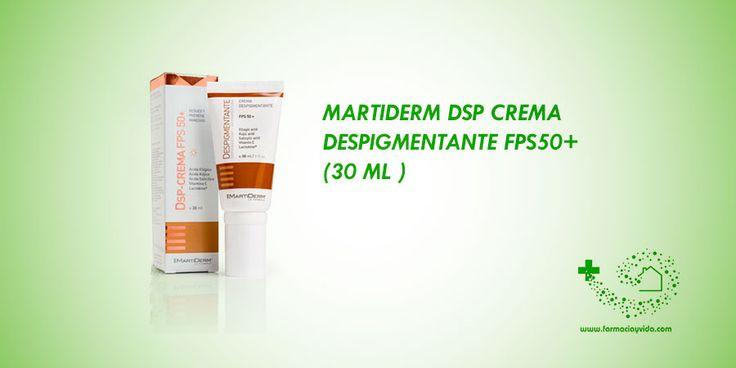 Tratamiento intensivo de las hiperpigmentaciones de cara, cuello, escote, brazos y manos de cualquier origen o naturaleza. http://farmaciayvida.com/martiderm-dsp-crema-despigmentante-fps50-30-ml.html