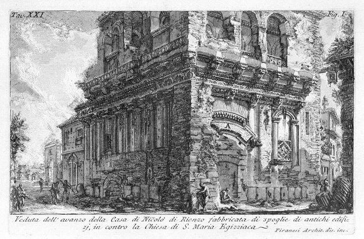 Casa dei Crescenzi - acquaforte by G. B. Piranesi (1756)