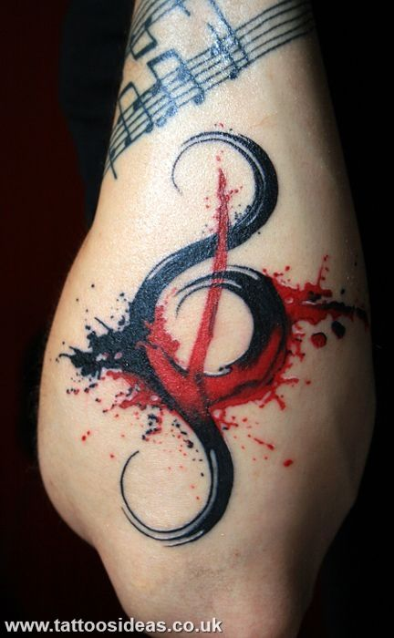 Music Tattoos Pictures @Julie Knosp I could see your hubs gettin something like this