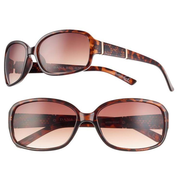 Women's Dana Buchman Small Rectangle Sunglasses, Brown