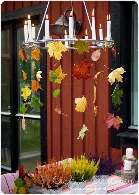 Autumn Table Setting - by Craft & Creativity