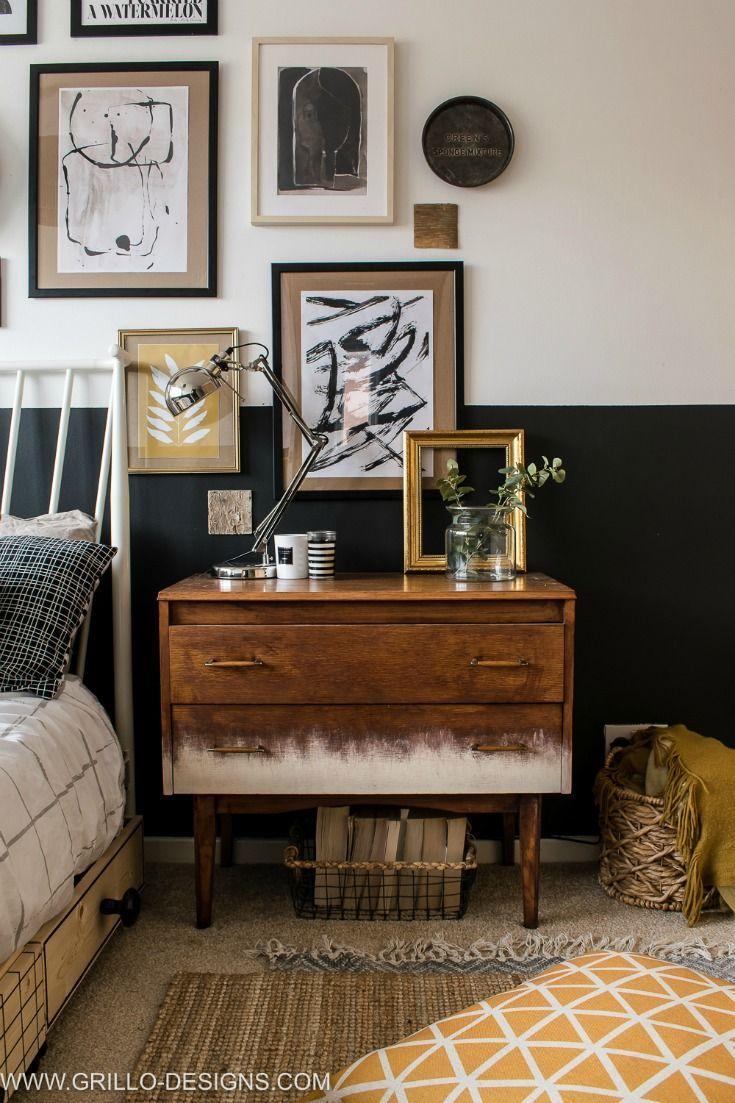 Modern Vintage Small Bedroom Makeover | Vintage bedroom ...