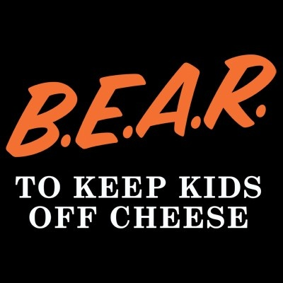 B.E.A.R. to Keep Kids Off Cheese Onesie - The Heckler Store- Chicago Bears