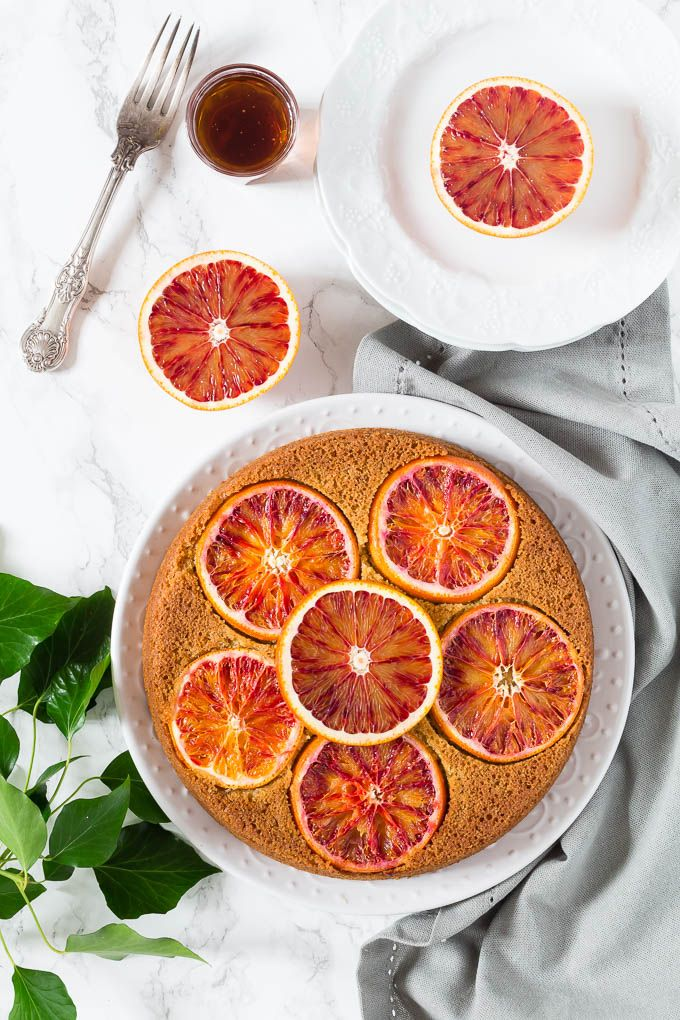 This *olive oil, cardamom and blood orange polenta cake* is one of the easiest cakes to make and even easier to decorate as the blood orange slices do all the work for you. Filled with some great flavours this cake is gorgeous.