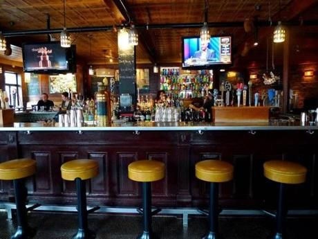 The calm before the storm at the always-crowded Local 149 in Southie.