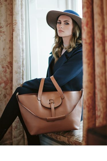 Meli Melo Thela bag in tan is a modern day essential that you'll carry season after season.  Click to shop Meli Melo at www.halsbrook.com.