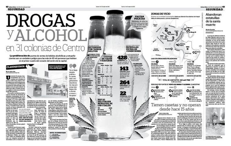 Espacial sobre Drogas de la seccion de Justicia del Diario Tabasco Hoy del 3/10/13