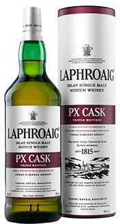 Laphroaig Single Malt peated Whisky from Islay. The most richly flavoured scotch whisky in the World.