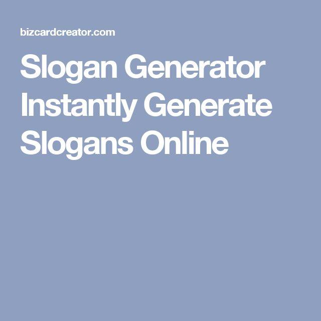 Slogan Generator Instantly Generate Slogans Online