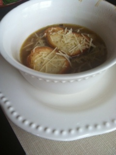 Crockpot onion soup