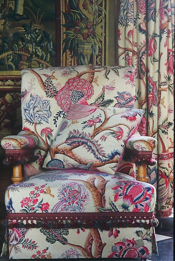 upholstery fabric floral pattern cotton le grand corail braqueni