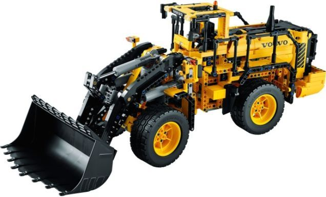 #Lego designer drives and then builds a giant Volvo L350F Wheel Loader