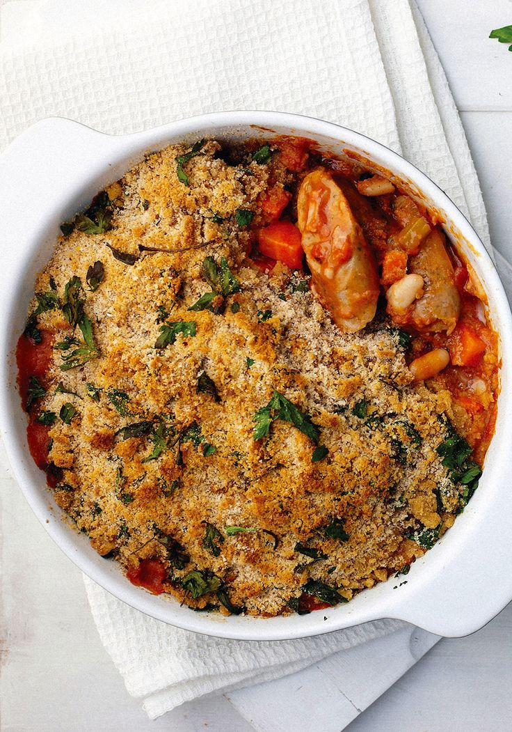 This rustic, slow-cooked French cassoulet is proof: sausage, white beans, herbs and chicken combine for a satisfying dish that reminds us that not every casserole must brim with carbs and cheddar.