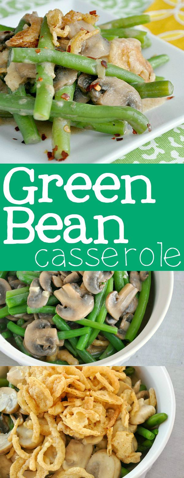 A delicious lightened up version of the classic green bean casserole! Everyone in my family loves this simple, fresh, side dish! No cans or cream of anything!