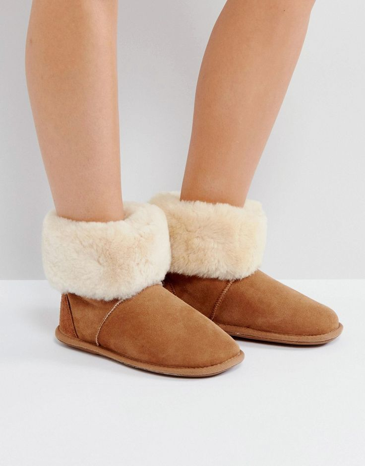 Just Sheepskin Albery Boots - Tan