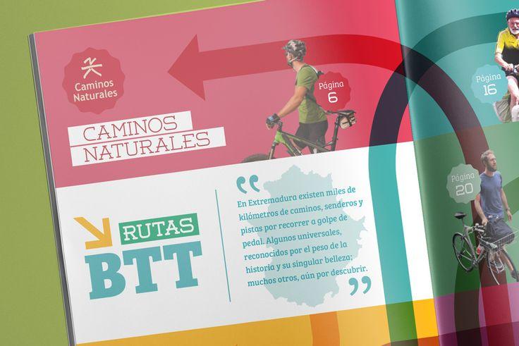 Detalle del capítulo - Folleto turístico | Extremadura BTT | Laruinagrafica