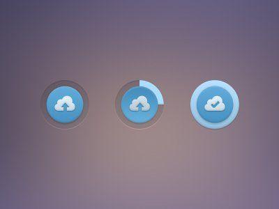 Cloud Upload Button