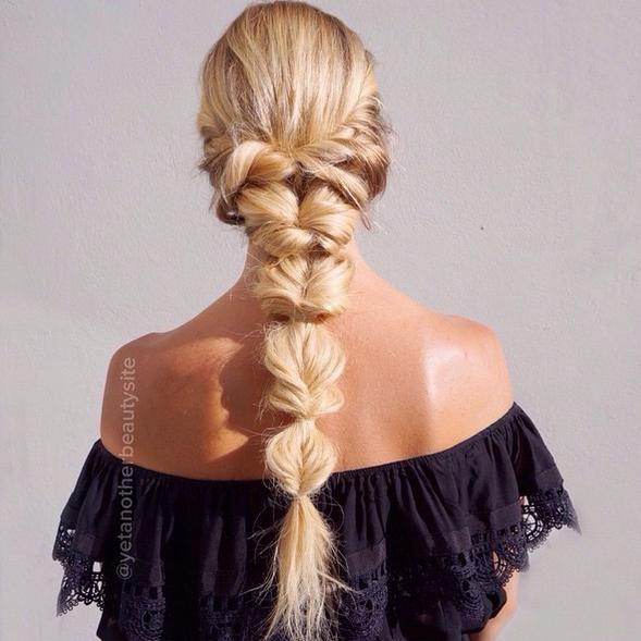 3 Braids to Try this Summer - topsy tail or faux fishtail braid by yetanotherbeautysite