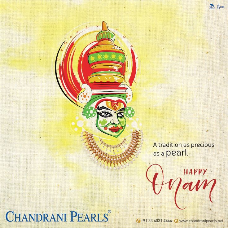 Celebrate the auspicious occasion of Onam as you look timeless and gracious with the precious touches of pearls in your favourite jewellery. #HappyOnam #Onam #Happiness #Wishes #ChandraniPearls #Pearls