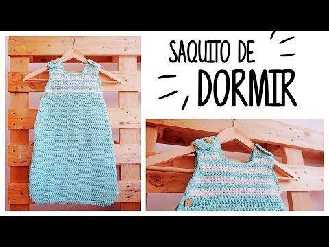 Cómo tejer SACO DE DORMIR - SLEEPING BAG - de bebé (todas las tallas)   AHUYAMA CROCHET - YouTube