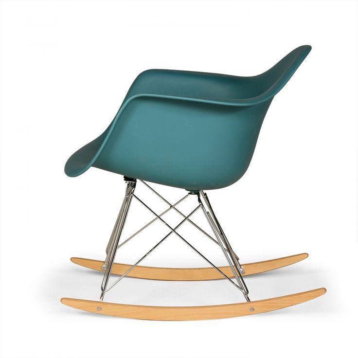 RAR Molded Plastic Rocking Chair-Navy Green 6 Eames Rocking Chair http://www.franceandson.com/mid-century-modern-rar-molded-plastic-rocking-chair-navy-green.html