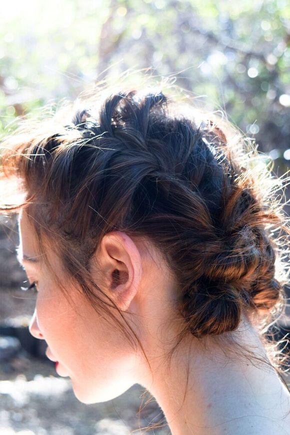 Hair braids, whispy and feminine. Styling Story: Behind the Scenes of Rebel Rose | Free People Blog #freepeople