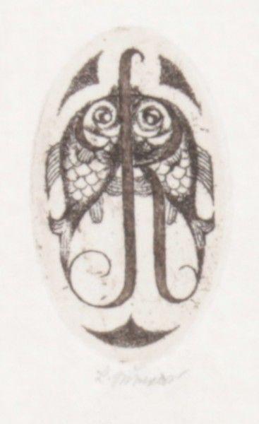 Jiřincová Ludmila (1912-1994)  Dvě rybky