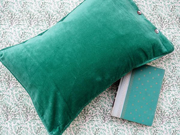 "Esthetic Living - Cushion Cover - Velvet Pine - 13""x 20"", $29.95 (http://estheticliving.com/cushion-cover-velvet-pine-13x-20/)"