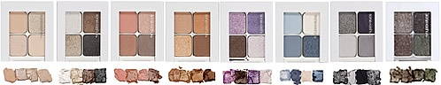 """Sonia Kashuk eye shadow quads. My favorites are """"Brown Eyed Girl"""" and """"Purple Haze""""."""