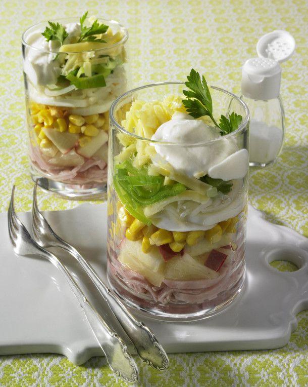 Unser beliebtes Rezept für Schichtsalat mit Porree und Schinken und mehr als 55.000 weitere kostenlose Rezepte auf LECKER.de.