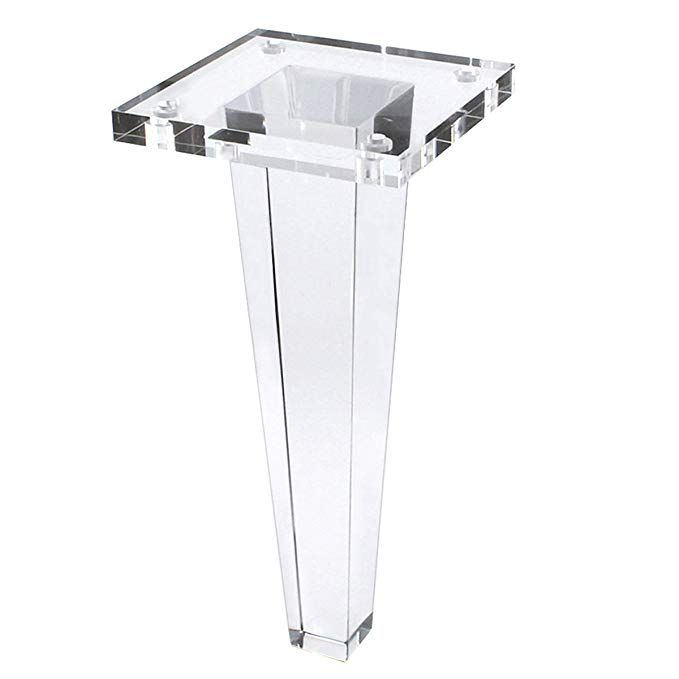 12 Inch Glass Coffee Table Legs Sofa Legs Square Cone Shape For