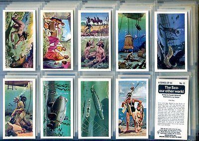 Trade Card Set, Brooke Bond Tea, THE SEA OUR OTHER WORLD, Deep Sea Diving, Diver - http://scuba.megainfohouse.com/trade-card-set-brooke-bond-tea-the-sea-our-other-world-deep-sea-diving-diver/