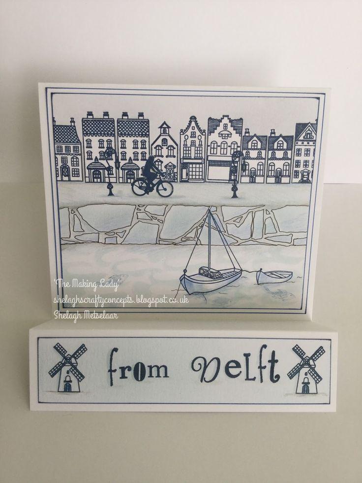 Wee houses card created by Shelagh Metselaar