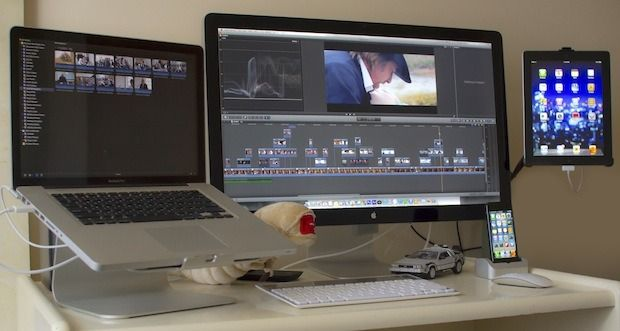The Mac desk setup of a professional cinematographer, awesome!