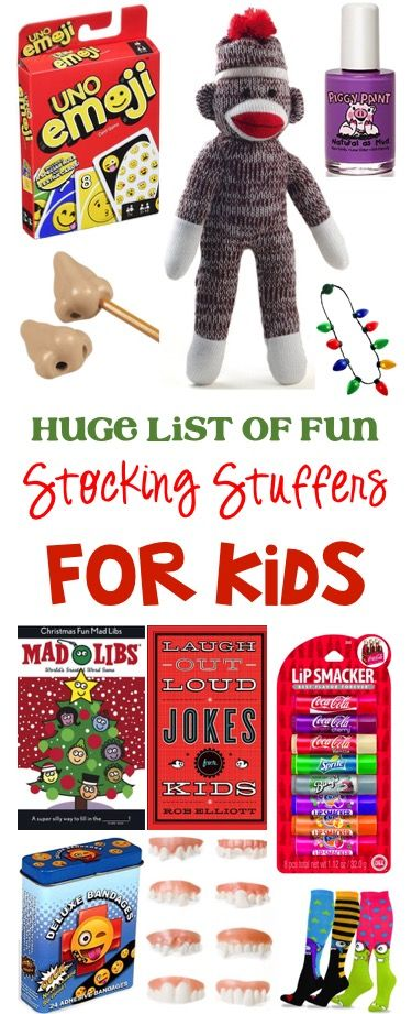 71 Funny Stocking Stuffer Ideas for Kids!  HUGE list of fun stocking stuffers the kids will love on Christmas morning!