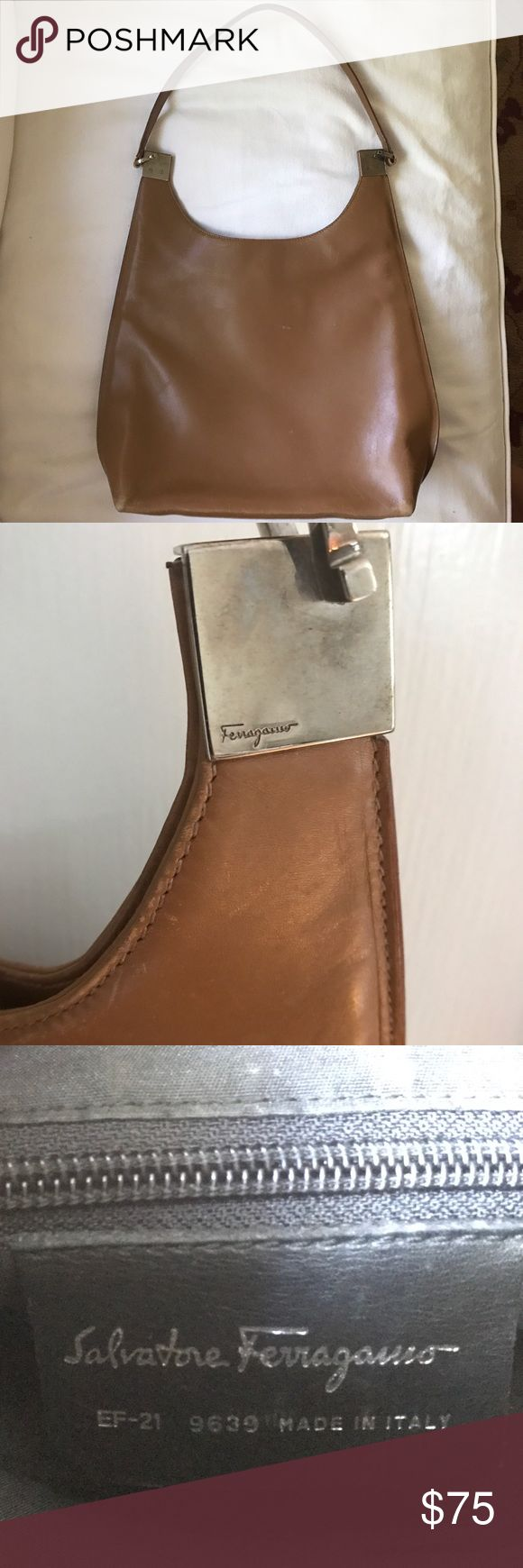 Salvatore Ferragamo Bag Tan neutral color. Used with some wear, see photos. Beautiful purse. Salvatore Ferragamo Bags Shoulder Bags