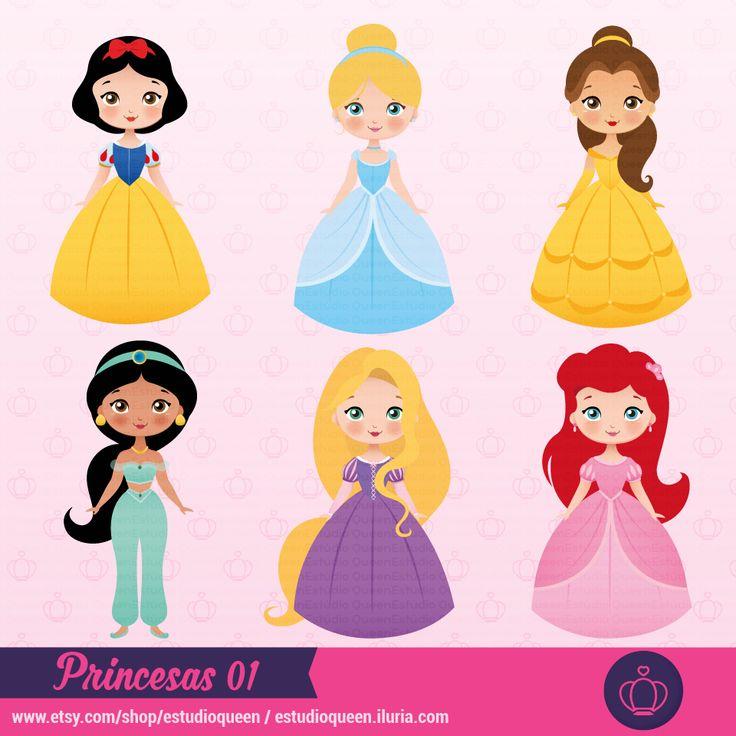 clipart princess, clipart princesas, princess cute, pricesas fofas, girls dress to, ariel princess, snow white princess, branca de neve, bela e a fera, beauty, rapunzel, enrolados, ilustração princesas, princesas fofas, scrapbooking