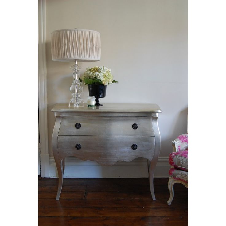 Lotty 2 drawer silver chest | Chest of Drawers | Beds & Bedroom | Sweetpea & Willow