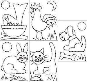Borduurkaarten - huisdieren