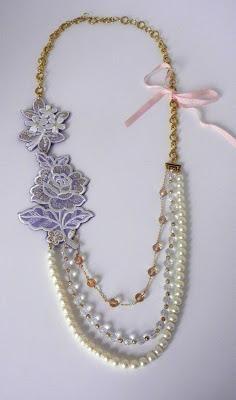 DIY Wedding Crafts : DIY Anthropologie Inspired Multi-Strand Necklace